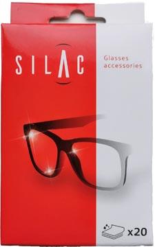 SILAC lingettes nettoyantes pour lunettes, boîte de 20 pièces