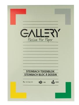 Gallery bloc de dessin 200 g/m², Steinbach grainé, 20 feuilles, ft 21 x 29,7 cm (A4)