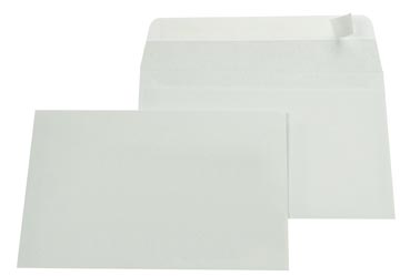 Gallery enveloppes, ft 114 x 162 mm (C6), bande adhésive, intérieur gris