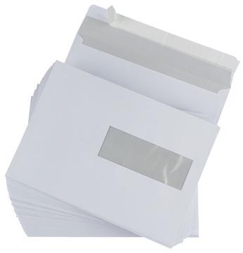 Gallery enveloppes, ft 156 x 220 mm, bande adhésive, fenêtre à droite (ft 40 x 110 mm)