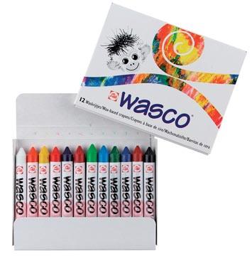 Talens craie à la cire Wasco, boîte de 12 pièces