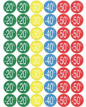 Agipa Etiquettes remises de -20% jusqu'à - 50%, couleurs assorties
