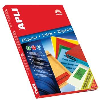 Apli Etiquettes colorées ft 70 x 37 mm (l x h), vert, 2.400 pièces, 24 par feuille