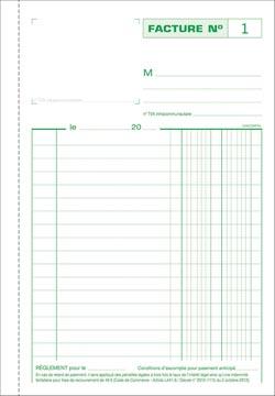 Exacompta factures, ft 21 x 14,8 cm, tripli, français