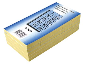 Carnets pour vestiaire numéros de 1 à 500, bleu