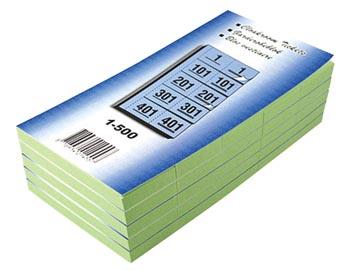 Carnets pour vestiaire numéros de 1 à 500, vert