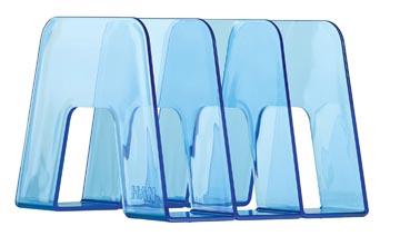 Han Serre-livres bleu transparent