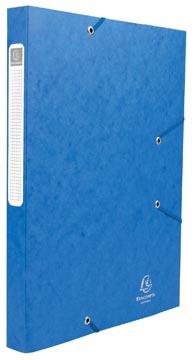 Exacompta Boîte de classement Cartobox dos de 2,5 cm, bleu, épaisseur 5/10e