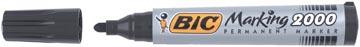 Bic marqueur permanent 2000-2300, pointe ogive, largeur de trait: 1,7 mm, noir