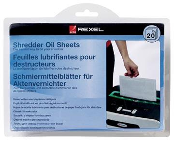 Rexel feuilles pré-lubrifiées, paquet de 20 pièces
