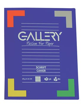 Gallery cahier, 72 pages, quadrillé 5 mm