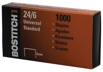 Bostitch agrafes 24-6-1MGAL, 6 mm, boîte de 1000 agrafes
