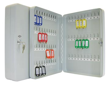 Wedo armoire à clés pour 70 clés, ft 28 x 6 x 37 cm , gris