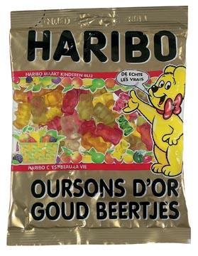 Haribo bonbons Oursons d'Or, sachet de 200 g