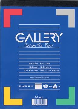 Gallery bloc de notes, ft A5, ligné