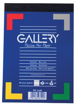 Gallery carnet de notes, ft A6, ligné, 70 g/m²