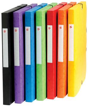Pergamy boîte de classement, dos de 2,5 cm, couleurs assorties