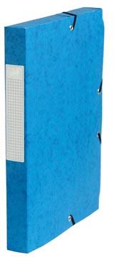 Pergamy boîte de classement, dos de 4 cm, bleu foncé
