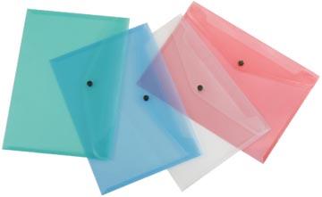 Beautone pochette documents, A4, en couleurs assorties transparentes