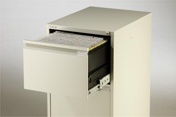 Bisley classeur dossiers, ft 71,1 x 47 x 62,2 cm (h x l x p), 2 tiroirs, gris