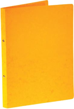 Bronyl classeur à anneaux, pour ft A4, en carton lustré, 2 anneaux de 16 mm, jaune
