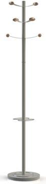 Unilux portemanteau Bouquet, hauteur 175 cm, 6 patères, gris/hêtre