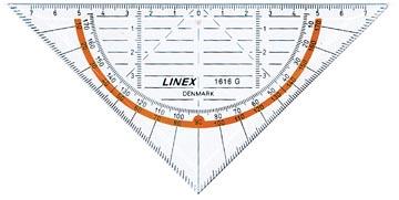 Linex equerre geometric 1616g, 16 cm