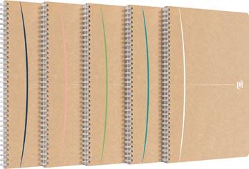 Oxford Touareg cahier à reliure spirale, 180 pages ft A4, ligné, couleurs assorties