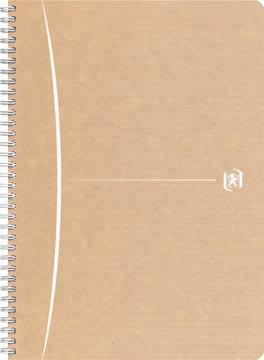Oxford Touareg cahier à reliure spirale, 180 pages ft A4, quadrillé 5 mm, blanc
