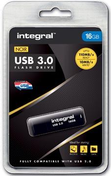 Integral clé USB 3.0, 16 Go, noir