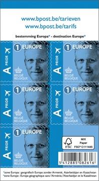 BPost timbre tarif 1 Europe, Roi Philippe, blister de 50 pièces, prior