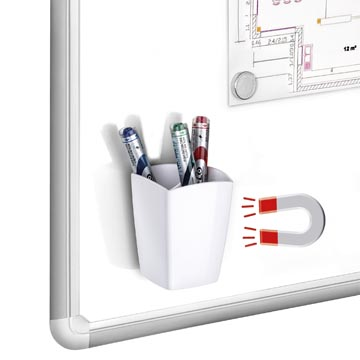 Gloss by CEP pot à crayons magnétique, blanc