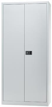 Bisley armoire à portes battantes, ft 195 x 91,4 x 40 cm (h x l x p), 4 tablettes, argenté
