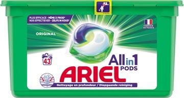 Ariel All-in-one pods original, capsules de lavage, 43 lavages