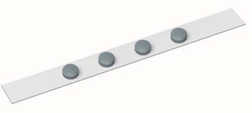 Maul bande métallique souple MAULstandard, ft 1 m, incl. 4 aimants