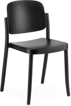 EOL chaise visiteur Line,polypropylène, noir, set de 4 pièces