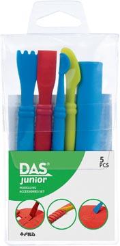 Das spatules de modelage, blister de 5 pièces en couleurs assorties