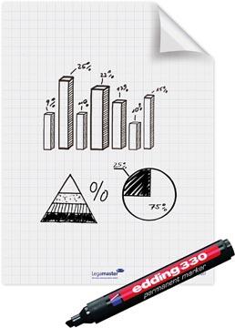 Legamaster Magic-Chart film flipchart, ft 60 x 80 cm, blanc, quadrillé, rouleau de 25 feuilles