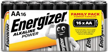 Energizer piles Alkaline Power, AA, blister 16 pièces