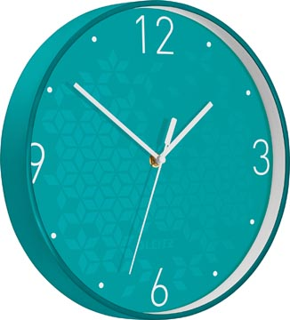Leitz WOW Horloge murales, bleu glacier