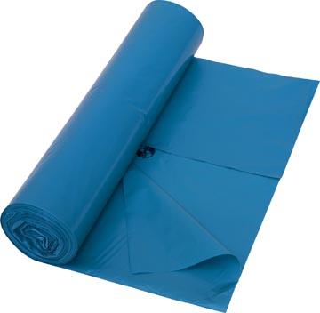 Sac poubelle 42 microns, ft 65 + 50 x 135 cm, bleu, rouleau de 10 pièces