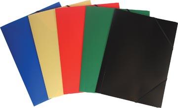 Pergamy chemise à rabats et élastiques couleurs assorties: rouge, bleu, vert, jaune et noir
