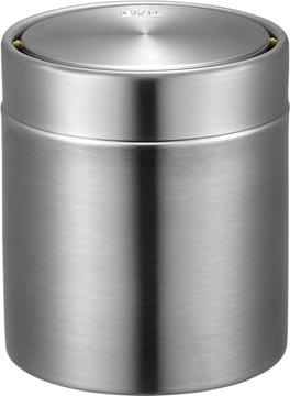 Eko poubelle pour la table RVS mat, 1,5 litres