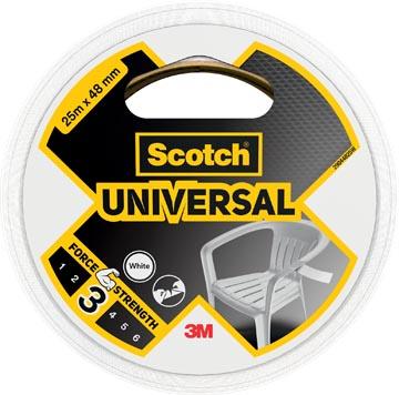 Scotch ruban de réparation Universal, ft 48 mm x 25 m, blanc