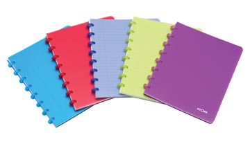 Atoma cahier Trendy ft 16,5 x 21 cm, quadrillé 5 mm, couleurs assorties
