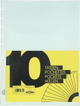 Atoma Accessoires pour cahiers, jeu de 10 pochettes transparentes