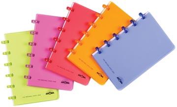 Atoma carnet de notes Trendy ft A6, quadrillé 5 mm, couleurs assorties