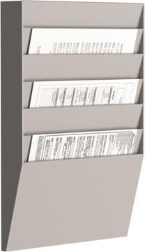 Paperflow trieur mural, 6 compartiments, horizontal, gris