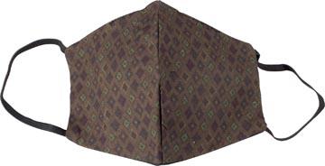 Masque lavable, motif green kites, taille: hommes, paquet de 5 pièces
