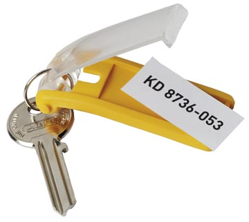 Durable porte-clés Key Clip, jaune, paquet de 6 pièces